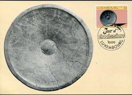 54058 Luxembourg, Maximum 1984  Ecuelle Cèramique, - Cartoline Maximum