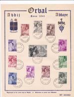 Feuillet Numéroté 556 à 567 Abbaye Orval - Velletjes