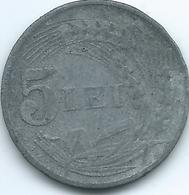 Romania - Michael I - 1942 - 5 Lei - KM61 - WWII Zinc Issue - Romania