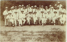 "Carte Photo. Congo. ""Manucongo"". Matadi. 1/1/1929. Groupe De Coloniaux. - Afrika"