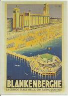 Reproduction D'une Affiche -- La Grande Plage Belge 1935.  (2 Scans) - Blankenberge