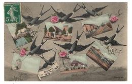 28 EURE ET LOIR - GOUILLONS Carte Souvenir Aquarellée (voir Descriptif) - Autres Communes