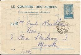 LE  COURRIER  DES  ARMÉES  -  Correspondance  Militaire  /  Général  JOFFRE  /  Envoi  Du  Secteur 129  à  Marseille - FM-Karten (Militärpost)