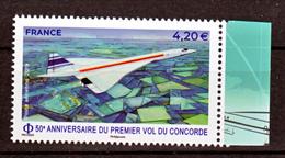 France PA 83a 2019 Concorde Avec Bord De Feuille  (feuille De 10) Neuf ** TB MNH Sin Charnela Faciale 4.2 - Luftpost