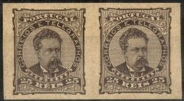PORTUGAL, 1882/83, KING LUIS I, CE#57X2, PROOFS IN PAIR, MH - Errors, Freaks & Oddities (EFO)