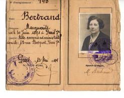B4  12 05 1944   Carte D'identité Permanente - Postmark Collection (Covers)