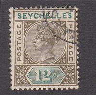 Seychelles 1893  12c  SG23  Used - Seychelles (...-1976)