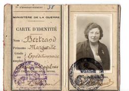 B4  04 1940  Carte D'identité  Ministère De La Guerre - Postmark Collection (Covers)