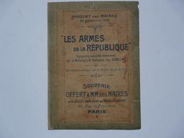 """SOUVENIR OFFERT A MM. LES MAIRES Par La Société D'Impressions Des """"VELOUTES COURBET"""" - Banquet Des Maires 1900 - Tapis & Tapisserie"""