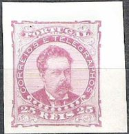 PORTUGAL, 1882/83, KING LUIS I, CE#57, PINK COLOR, PROOF, MH - Errors, Freaks & Oddities (EFO)