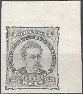 PORTUGAL, 1882/83, KING LUIS I, CE#57, GREY COLOR, PROOF, MH - Errors, Freaks & Oddities (EFO)