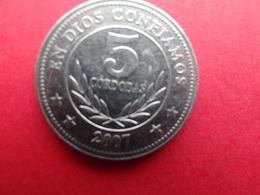 Nicaragua 5  Cordobas  2007  Km  !!! - Nicaragua