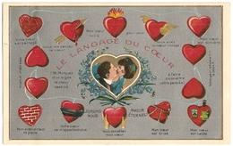 Illustrateur Le LANGAGE Du COEUR Couple Saint-Valentin_1913-1-27 REBECQ Timbre 1c_Edi 16 VPF Déposé N°10105_CPA-TTB - Illustratoren & Fotografen