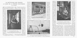 LE NETTOYAGE Des WAGONS à L'AIDE De La BROSSE ELECTRIQUE   1919 - Railway