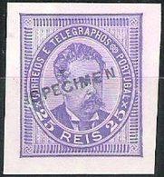 "PORTUGAL, 1884/87, KING LUIS I, CE#63,  W/ ""SPECIMEN"", PROOF, MH (1) - Errors, Freaks & Oddities (EFO)"