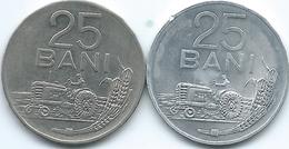 Romania - Socialist Republic - 25 Bani - 1966 (KM94) & 1982 (KM94a) - Romania