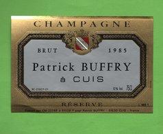 """Etiquette Du Champagne   """"    Patrick  BUFFRY - Champagne"""