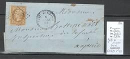 France - Lettre De Gatti Di Vivario - Corse - 1864 - GC1629 + T22 - Poststempel (Briefe)