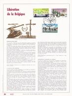 Exemplaire N°001 Feuillet Tirage Limité 500 Exemplaires Frappe Or Fin 23 Carats 2189 à 2188 Libération De La Belgique - Feuillets