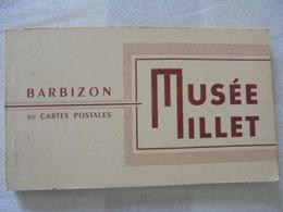 CARNET 20 CARTES POSTALES MUSSE DE MILLET BARBIZON - Musées