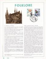 Exemplaire N°001 Feuillet Tirage Limité 500 Exemplaires Frappe Or Fin 23 Carats 2184 2185 Folklore - Feuillets