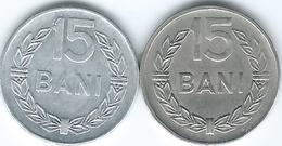 Romania - Socialist Republic - 15 Bani - 1966 (KM93) & 1975 (KM93a) - Romania