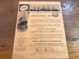Publicité Cie Messageries Maritimes 1925 Croisières France Méditerranée Et Autour Du Monde - Advertising