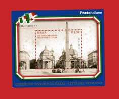 Italia ** - Anno 2011 - BF 60 - 150° Ann. Dell'Unità D'Italia, Congiunta Con Città Del Vaticano.  MNH - 2011-...: Ungebraucht