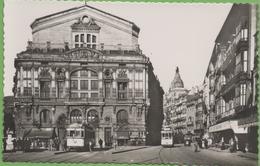 CP5 BILBAO Teatro Arriaga And Ribera Street, Animée, Non Circulée - Vizcaya (Bilbao)