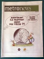 Metro News N° 2771 - 9 Avril 2015 - Asterix La Poste - Uderzo - Astérix