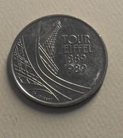 1989 - France - 5 FRANCS, Tour Eiffel, KM 968,  Gad 772 - Commémoratives