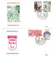 14177438 Belgium 19770611 Frameries Historique St-HUbert 2fdc Cob1856-59 - 1971-80