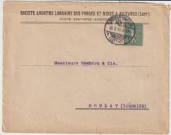 France:Lorraine  Obliterations.Knuttingen  Hutte. - Alsace-Lorraine