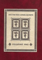 286-Allemagne III REICH-----REPRODUCTION ---- Armée Allemande En Afrique Du Nord - Blocks & Sheetlets