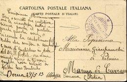 "54085 Italia (tripolitania) Card 27.5.1913 Circuled From Derna  To Marina Di Carrara By Regia Nave ""sicilia"" (see 2 Scan - Tripolitania"