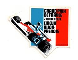 Autocollant Grand Prix De France 7 Juillet 1974 Circuit Dijon-Prenois - Format: 11.5x13.5 Cm - Stickers