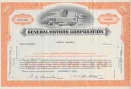 General Motors Corporation 100 Shares 1955 - Transports