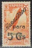Sello 5 Cts Sobre 2 Pts Beneficencia GUINEA Española 1941, Edifil Num 11** - Guinea Española
