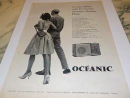 ANCIENNE  PUBLICITE A VOTRE EPAULE  TRANSISTOR  OCEANIC 1960 - Radio & TSF