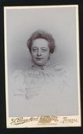 CDV - PHOTOGRAPHE   A.RUYS - MOREL     TOURNAI  RUE DE LA CORDONNERIE 13  2 SCANS - Anciennes (Av. 1900)
