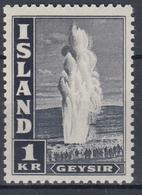 +Iceland 1945. Geysir. AFA / MICHEL 239C. MNH(**). - 1944-... Repubblica