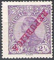 PORTUGAL, 1910, KING MANUEL II, CE#170, W/ INVERTED OVERPRINT, MNH - Errors, Freaks & Oddities (EFO)