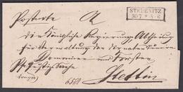 Km_ Preussen Vorphilatelie - Brief Von Stepenitz / Stepnica Nach Stettin - Deutschland
