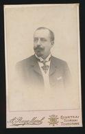 CDV - PHOTOGRAPHE   A.RUYS - MOREL     TOURNAI  RUE DE TOURNAI   2 SCANS - Anciennes (Av. 1900)