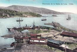 Tarjeta Postal.  Bahia De Lota   (Chili Chile)    Panorama Puerto   Mineria   Ed Juan Sepulveda   241 - Chili
