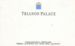 78-Carte Publicitaire..Trianon Palace...Versailles ...(Yvelines)..1 - Versailles