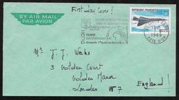 France - 1969 Concorde Stamp On Cover - Dijon Postmark - Briefe U. Dokumente