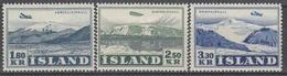 +M258. Iceland 1952. Airmail. AFA / MICHEL 278-80. MH(*). - Airmail