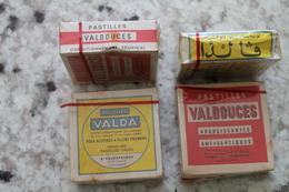 Lot De Pastilles VALDA Et VALDOUCE En Boite Ou Sachet Fabriquées Au Sénégal Dans Les Années 60/70 - Equipo Dental Y Médica