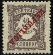 PORTUGAL, 1911, REGULAR EMISSION, CE#P.18, W/ INVERTED OVERPRINT, MNH - Errors, Freaks & Oddities (EFO)